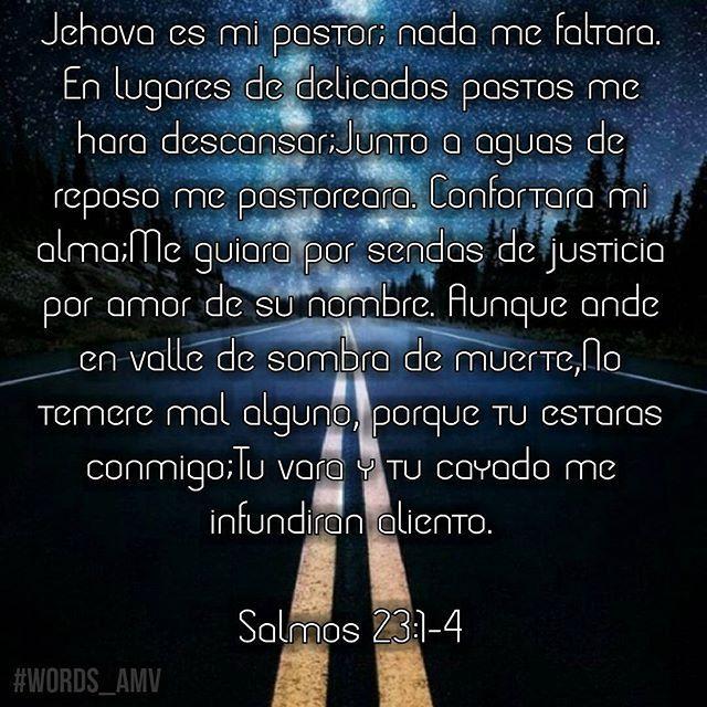 Aunque ande en valle de sombre de muerte, No temere mal alguno. Tu vara y tu cayado me infundiran aliento. Gracias Jehova ✒ #words_amv