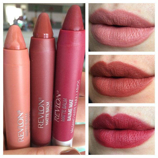 #revlon fall 2015 #colorburstmattebalm new shades in 225 enchanting, 265 fierce, and 270 fiery