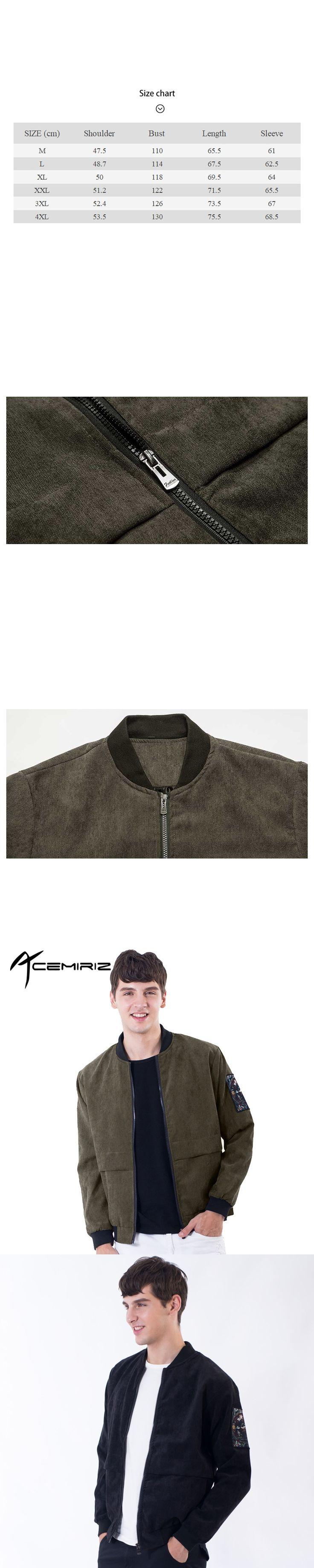ACEMIRIZ New Bomber Jacket Men Casual Corduroy Jacket 2017 Fashion Spring Autumn High Quality Masculino Coat T-J24