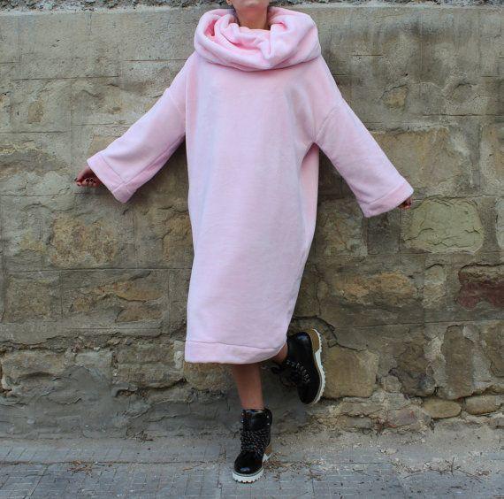 Pink Maxi dress Oversized dress jumper от cherryblossomsdress