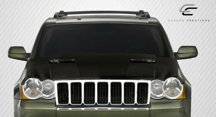2005-2010 Jeep Grand Cherokee Carbon Creations Challenger Hood - 1 Piece