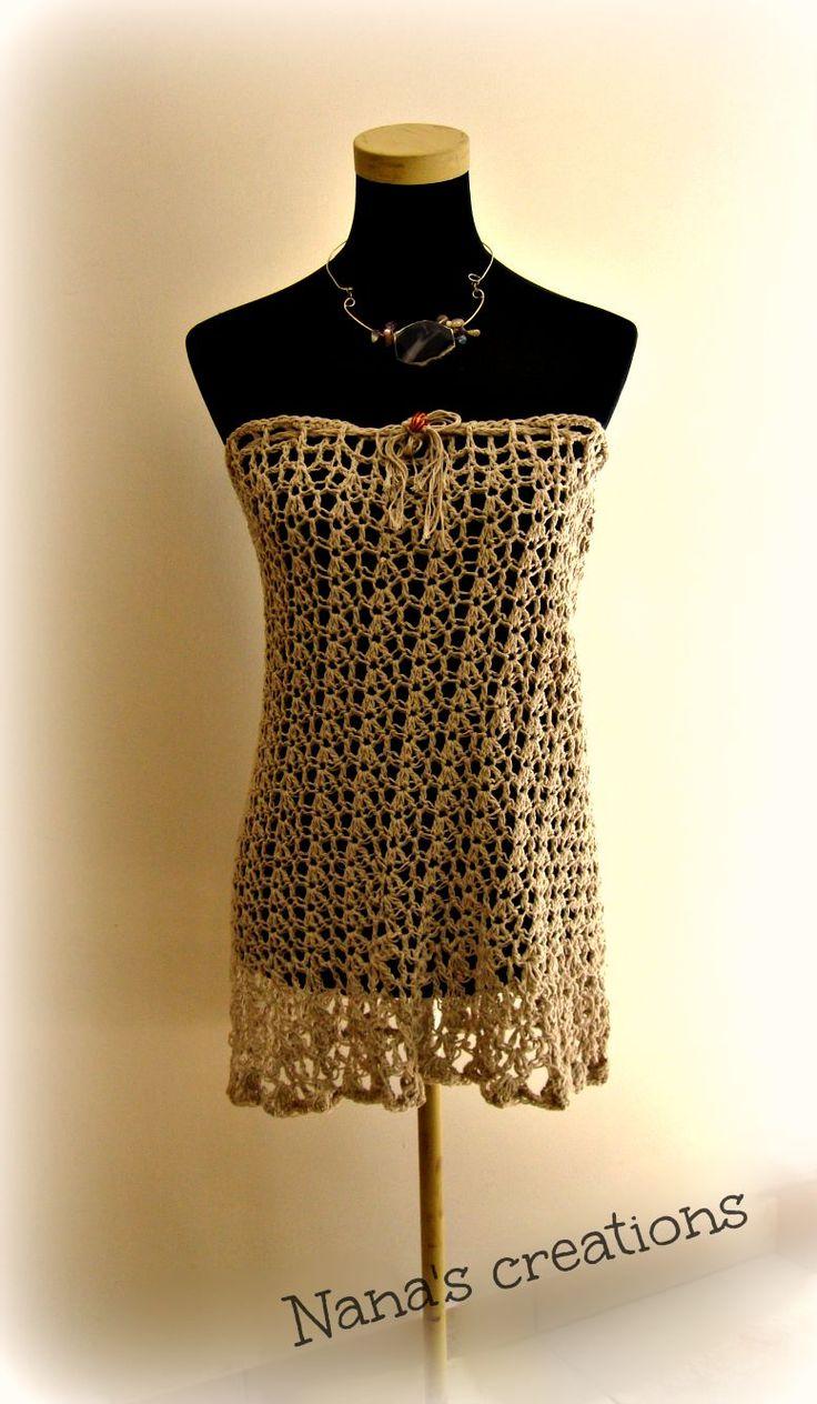 Handmade crochet summer dress or skirt