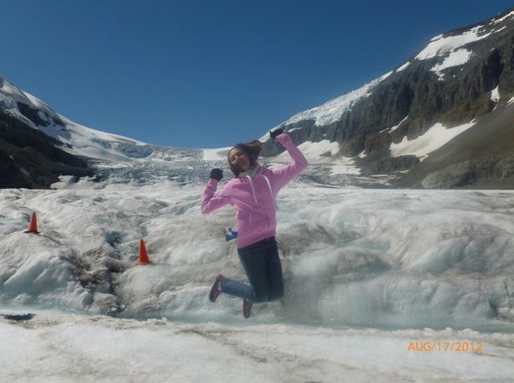 Happy to be exploring the Columbia Icefield! #ExploreRockies