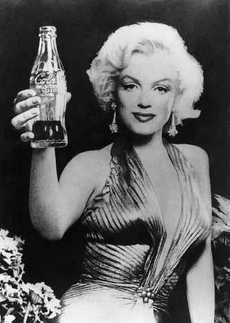 """Marilyn says, """"Never finish a full bottle of coke... it gives you pimples, makes you fat, and ruins your teeth"""""""