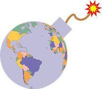 Politik, Dunia, Bumi, Peta, 3D