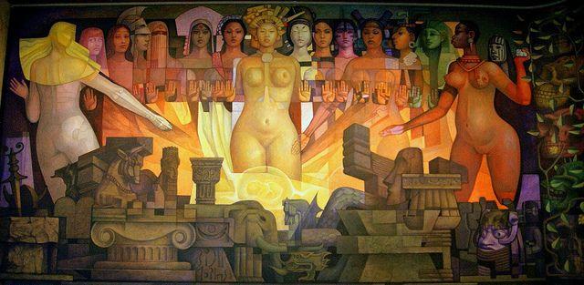 Las razas y la cultura. Jorge González Camarena, obras