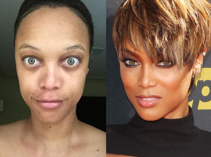 Tyra Banks from Stars Without Makeup  The America's Next Top Model star gets real on Instagram, sharing an au naturale selfie with a few inspiring words.