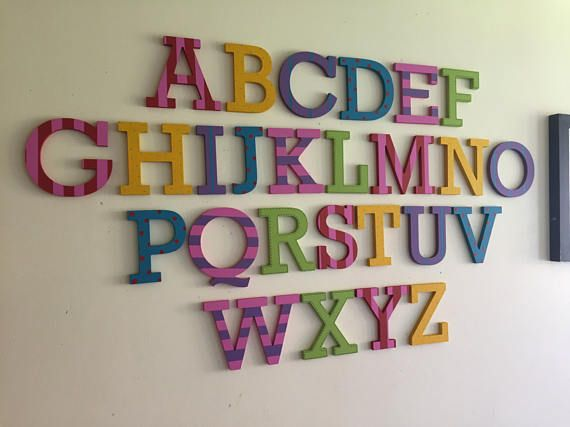 Hey, I found this really awesome Etsy listing at https://www.etsy.com/listing/514787844/painted-wooden-alphabet-hand-painted