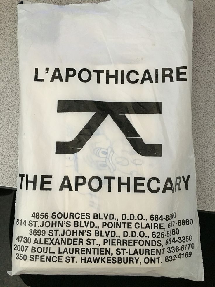 A bag from the Apothecary - before big drugstore chains existed!