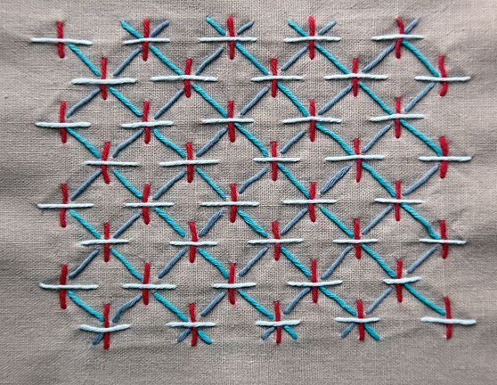 "Sashiko stitching is an elegant and very simple stitching technique dating back to the 1600""s. Originally used to mend and quilt fabrics, now used as a decorative stitch. Sometimes called embroidery, sashiko is really a quilting stitch."