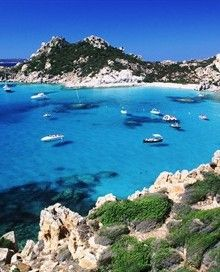 La Maddalena Italy, is the largest town in the Maddelena archipelago, just 2 kilometres from the northeastern shore of Sardinia, in the Straits of Bonifacio, between it and Corsica. Beautiful, only accessible by boat.