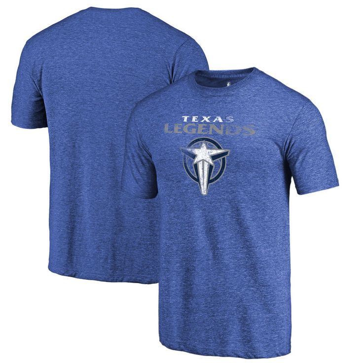 Texas Legends Fanatics Branded Distressed Primary Tri-Blend T-Shirt - Royal