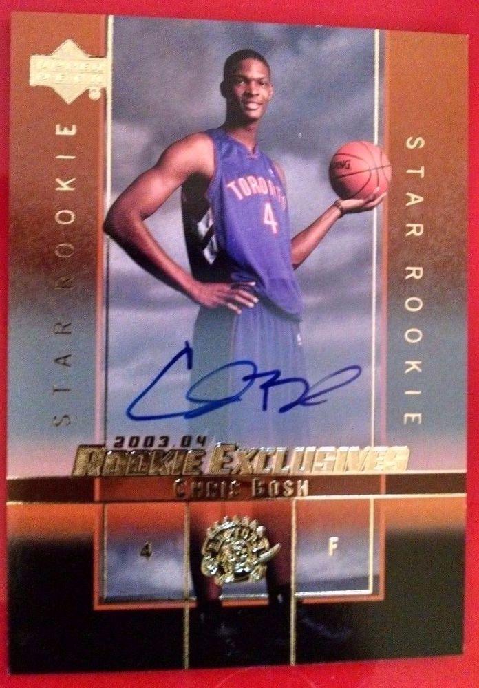 2003-04 Upper Deck Rookie Exclusives Autographs #A4 Chris Bosh Toronto Raptors #TorontoRaptors
