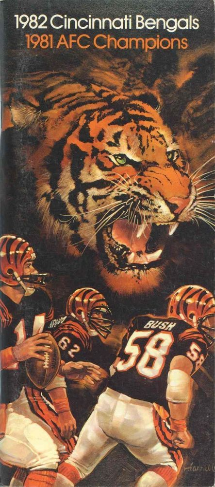 1982 cincinnati bengals #NFL media guide -- '82 from $3.99
