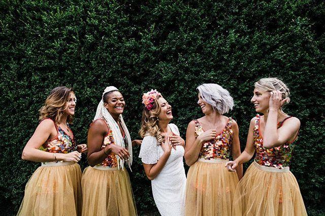We'll never get over this bridal party 🔥   @throughthewoodsweran on fiyaaaaaah 👏 • • • • • #wearetheweddingcollective #modernwedding  #thisismycommunity #ukwedding #creativehappenings #indiebride #createcommune #loveauthentic  #creativebride #weddingtrends #postthepeople #freedomthinkers #peoplecreatives #bridalparty  #radlovestories #bohobride #bridalstyle  #sequindress #modernbride