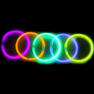 Under $25: 8'' LumiStick Brand Glowsticks Glow Stick Bracelets Mixed Colors (Tube of 100)