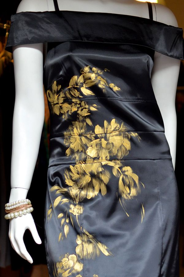 Hand painted long dress for eveninig.