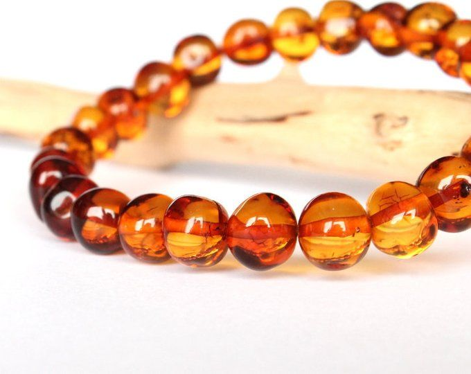 gem stone bracelet elegant amber jewelry golden color amber bracelet Cognac color amber bracelet organic amber bracelet Baltic amber