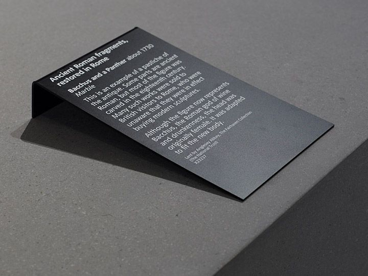 RAMON MARIN simple exhibition label. Old metal book stand repainted and printed window decal.