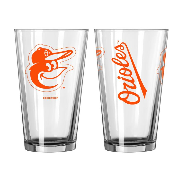 BOELTER BRANDS Baltimore Orioles Game Day Pint Glass 2-Pack