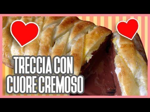 Ricetta di San Valentino, Treccia di Pasta Sfoglia con cuore cremoso