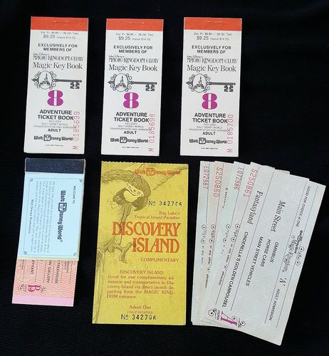Do these bring back fond memories? Lot of  9 Vintage 1970's Era Walt Disney World Ticket Books, etc We purchased these at an Estate Sale