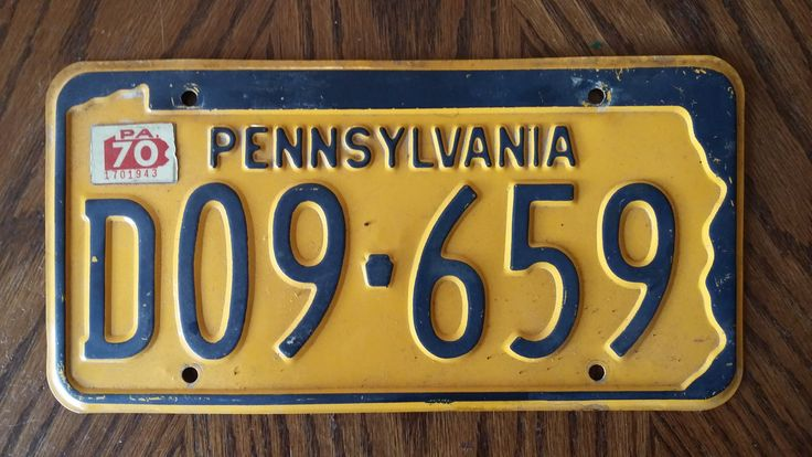 Vintage 1970 Pennsylvania License Plate 1970 license plate vintage PA license plate old PA license plate antique PA license plate : antique number plates - pezcame.com