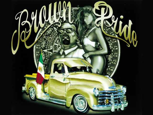 298 best images about mexican culture on pinterest mexican art mexico city and chicano - Brown pride lowrider ...