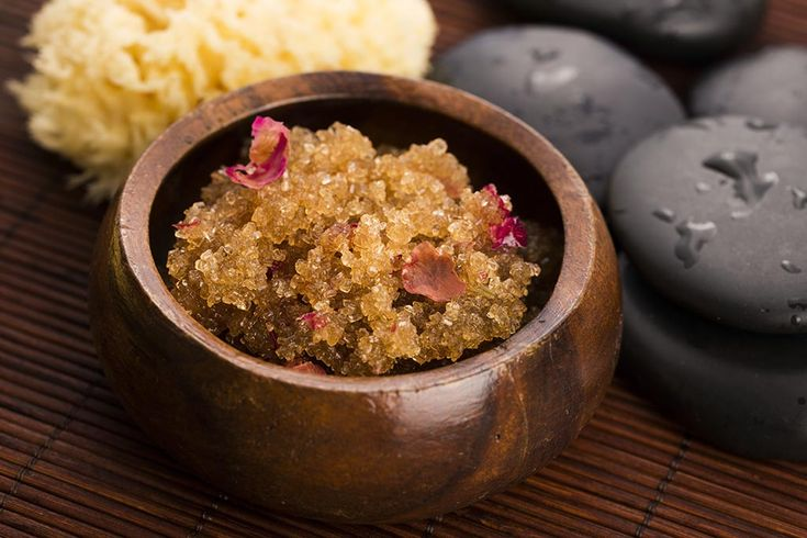 Sweet roses, stress relief and self care. Indulge your senses with a luxurious at-home body scrub!
