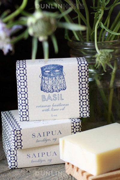 Saipua NYC olive oil soap from Dunlin: Hands Soaps, Hands Made, Diy Fashion, Gifts Ideas, Basil Soaps, Host Gifts, Guest Bath, Hostess Gifts, Soaps Packaging