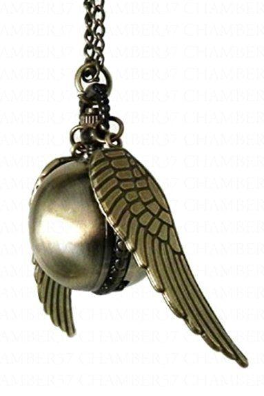 Harry Potter Boccino d'Oro orologio Collana Steampunk Quidditch Pocket orologio