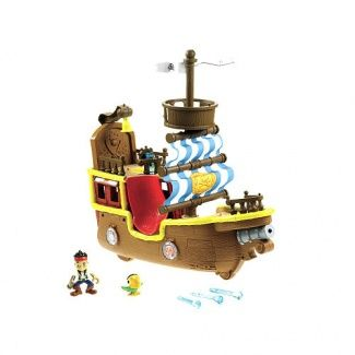 Every good pirate theme must have a pirate ship - whether you make yours, as craft, or buy it, it's still essential! From 6 months of age, you can expect your child to be understanding basic performatives - when we teach babies about ships, the noise we use is'pppp'  - so make that noise each time you bring the ship out to play. Even better for their listening is to make the noise before the child sees the ship - as many times as they will tolerate on their attention span!