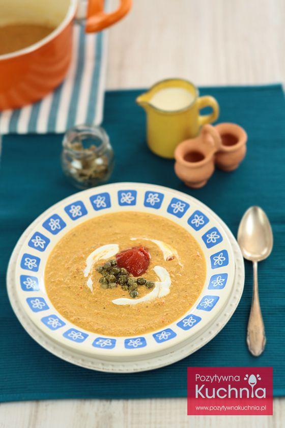 #zupa z kurek - #przepis na zupę krem z kurek z kaparami i pomidorami  http://pozytywnakuchnia.pl/zupa-z-kurek/  #obiad #grzyby #kurki