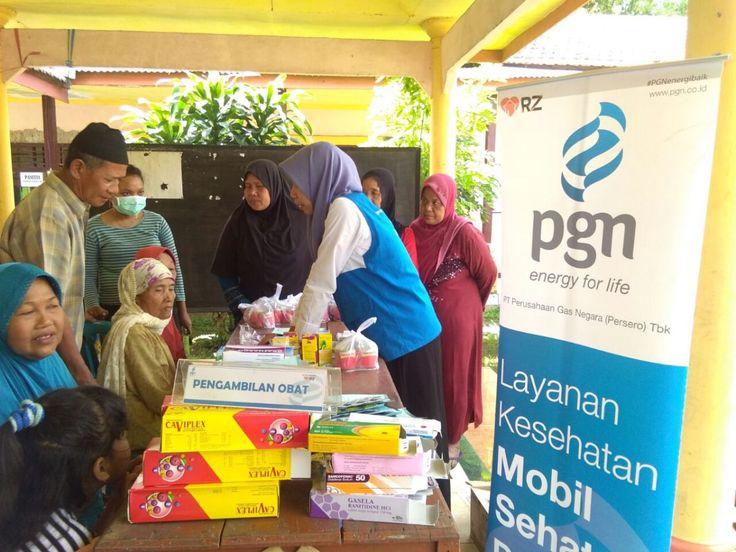 Warga Antusias Ikuti Chek Kesehatan dan Pengobatan Rumah Zakat dan PGN di Desa Tempel, Krian