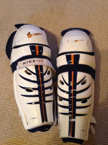 Nike v7 #junior ice #hockey shin pads,  View more on the LINK: http://www.zeppy.io/product/gb/2/121880299608/