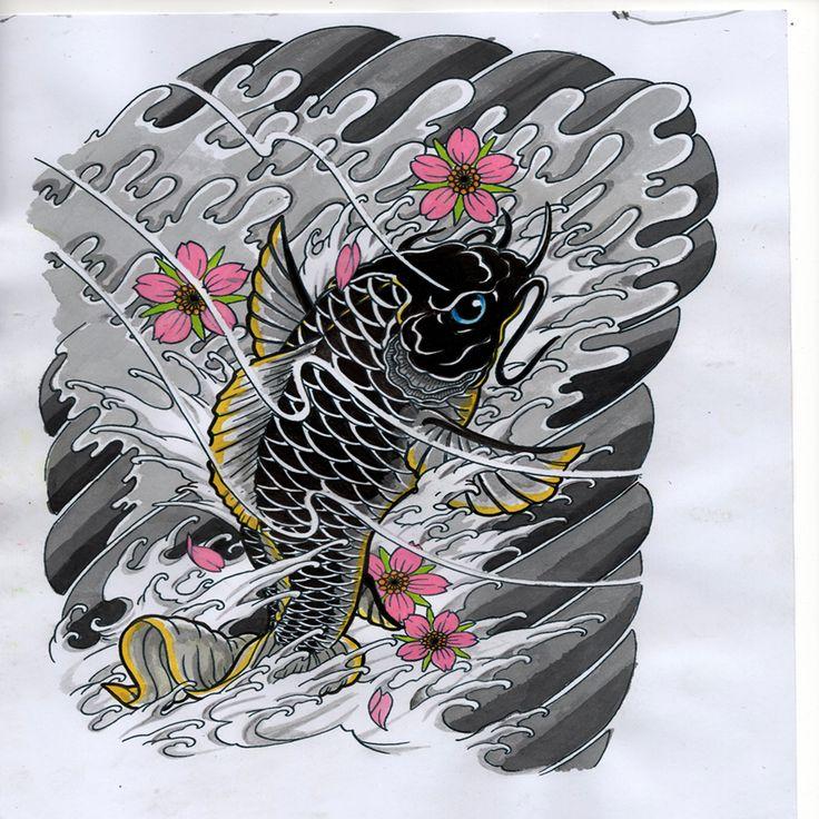 Les 18 meilleures images du tableau carpe koi sur pinterest for Carpe koi b