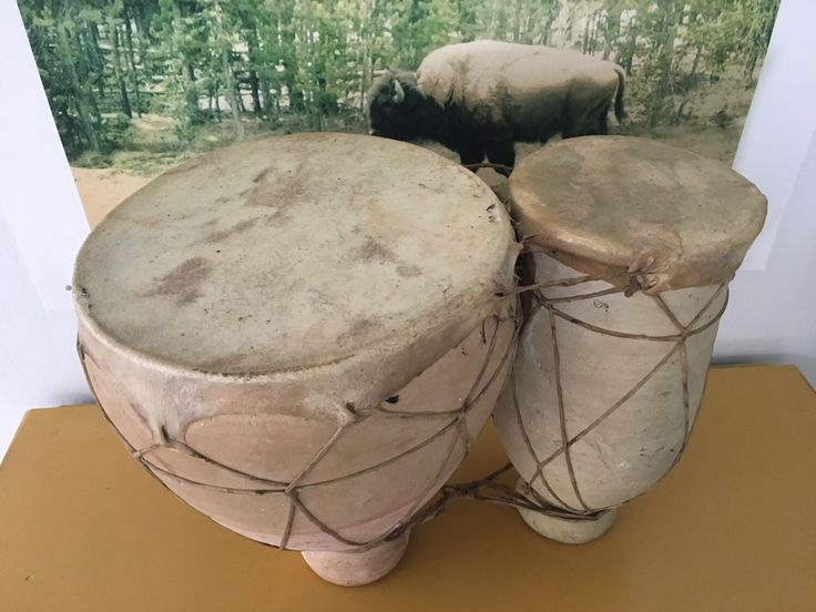 Excited to share the latest addition to my #etsy shop: handmade terracotta bongos #art #handmade #bongo #drum #rustic