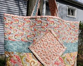 Quilted Tote Bag Purse