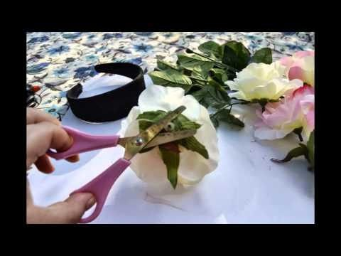 Tutorial semplice coroncina di fiori (flower crown diy)