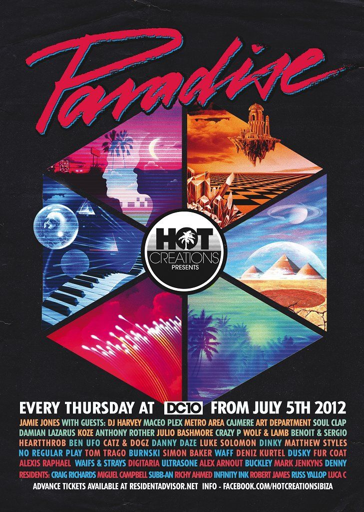 View the Hot Creations presents Paradise flyer