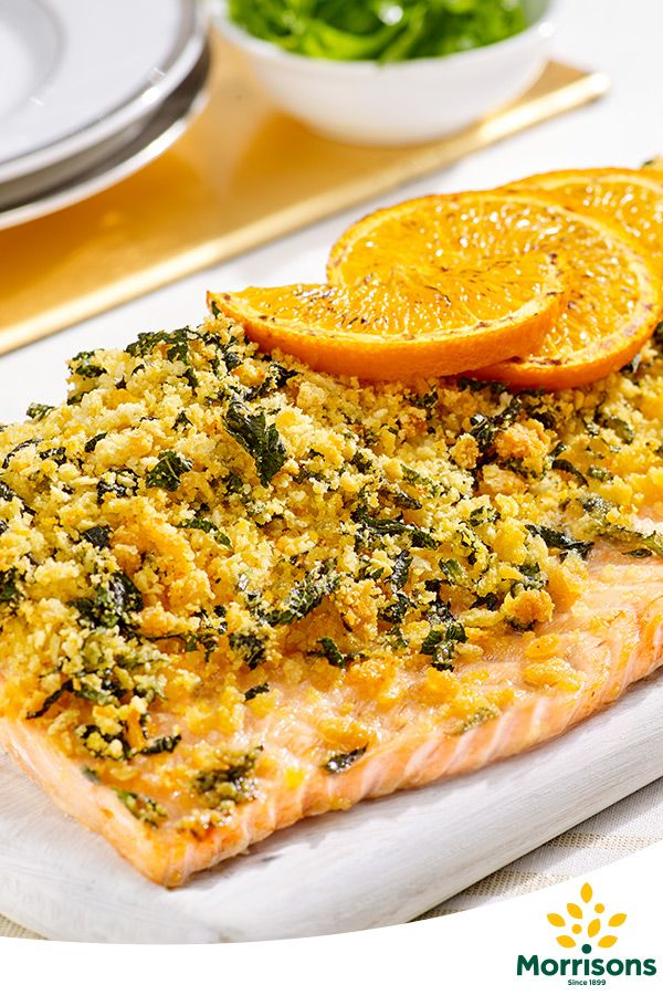 In the mood for celebration? Try our Gluten Free Whole salmon fillet with orange and mint crust recipe from our Emotion Cookbook