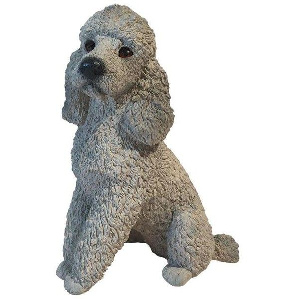 Stone Gray Poodle Statue ($59) ❤ liked on Polyvore featuring home, home decor, models & figurines, stone statues, outdoor figurines, outdoor home decor, poodle statue and outdoor statuary