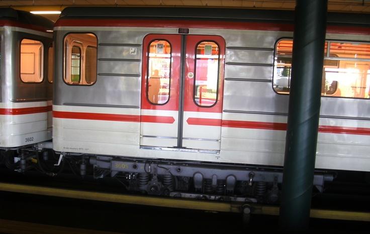A Metro train in Prague
