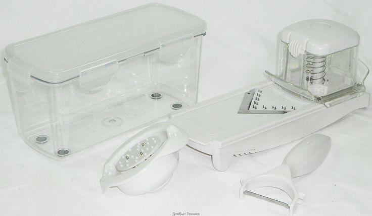 АТ - 1238 ТеркаВ комплект входит:Терка Спид слайсер с V-образным лезвием и лезвием для французской лапши (лезвия изготовлены...