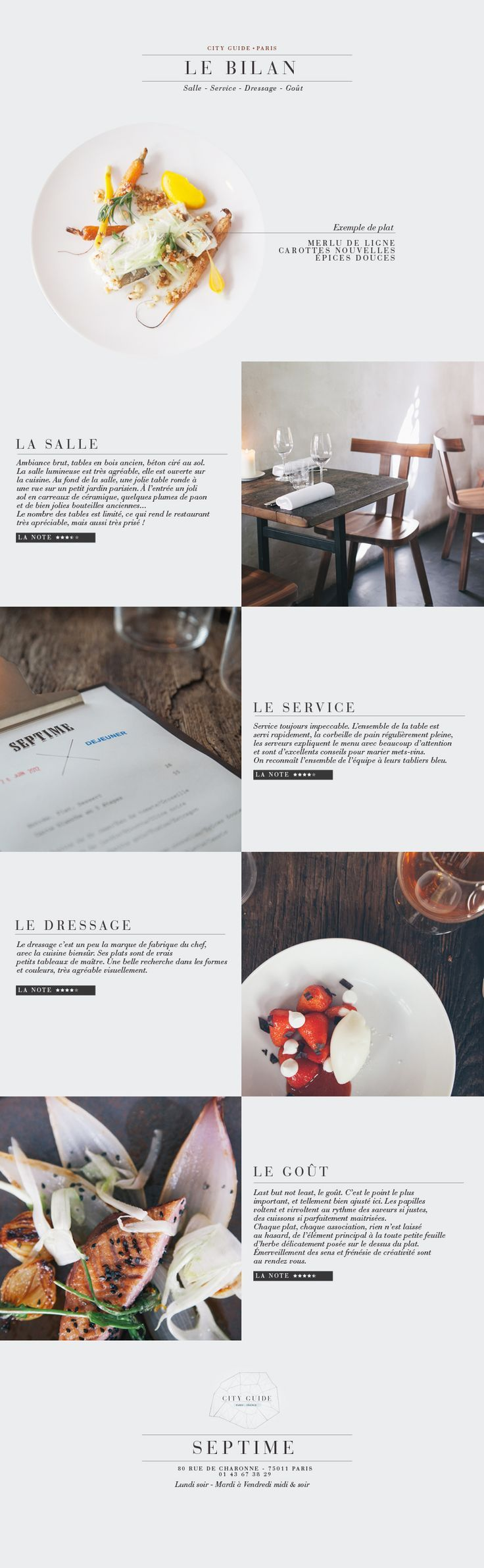 Restaurant Paris //  simple resturant website design