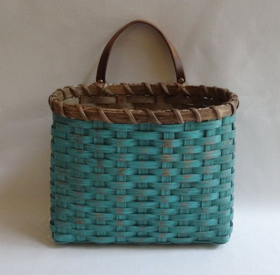 Mail Basket / Wall Basket-Painted / Primitive Style  Wall