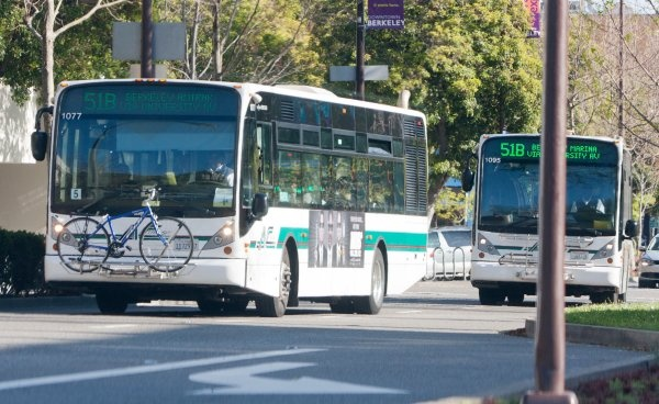 """""""You know you're a real Berkeleyan if you.... have waited 20 minutes for a 51B, only to see two in a row pull up when they finally arrive.""""    click through the slide show to see some othersPulled Up, Row Pulled, Berkeley Enjoy, Real Berkeleyan, Outsiz Reputation, Francisco, 20 Minute, 113 000 People, Final Arrival"""