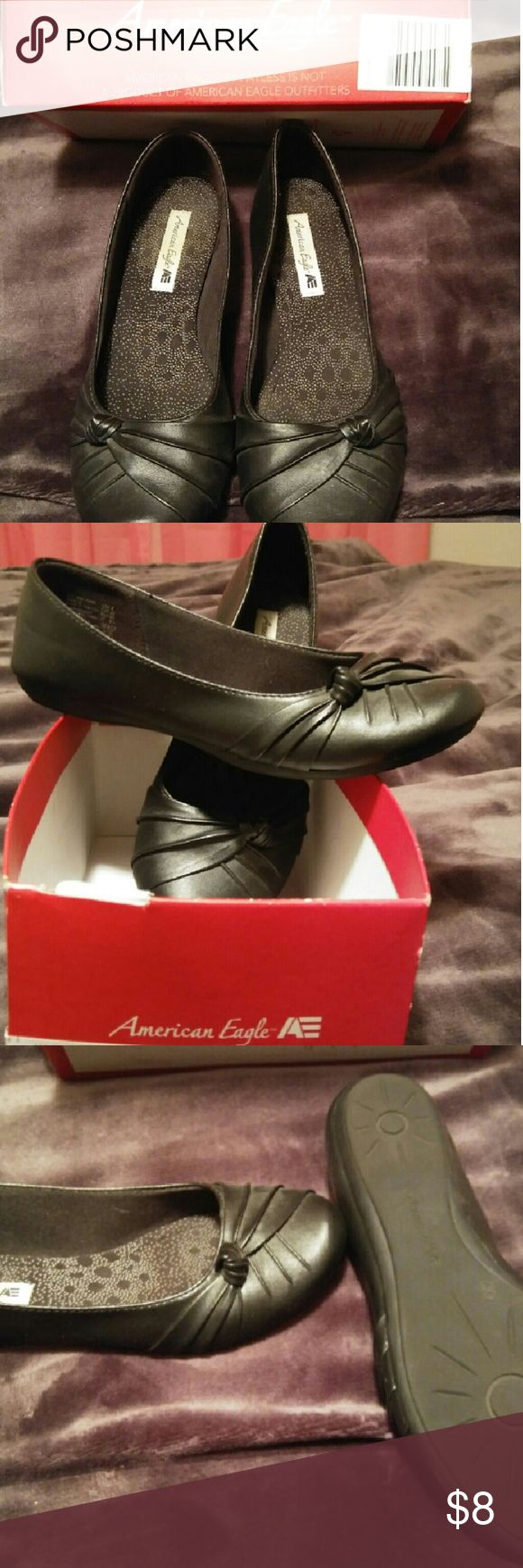 Black flats American Eagle, bought from Payless Shoe Source. Great condition! Worn once. American Eagle by Payless Shoes Flats & Loafers