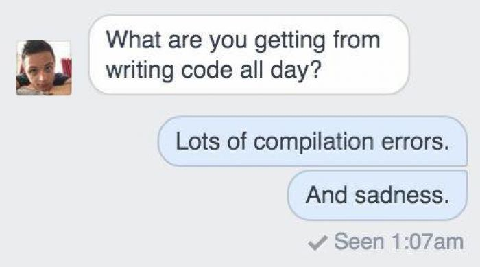 What are you getting from writing code all day?