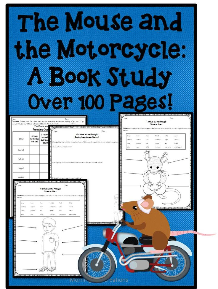 book trait by vocabulary  the of clothes activities  Motorcycle full      girls study for cute and Mouse The This is page chock Cleary Beverly comprehension  of character and